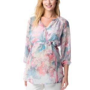 Jessica Simpson Maternity Floral Tunic | Size S